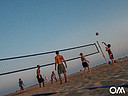 Beachvolleyboll på stranden i Morro Jable